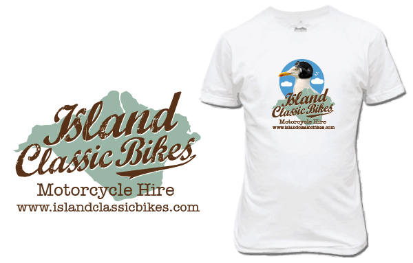 Island Classic Bikes' new corporate identity (and seagull)