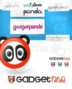 gadget panda logo design
