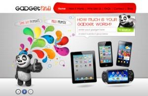gadget panda logo and website design
