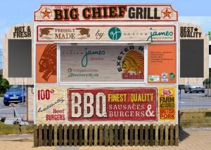 Visual for Chiefs' burger van