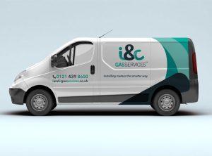 ic gas vehicle logo design