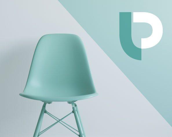 Lp chair logo design for Chair logo design