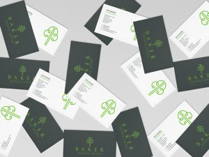 Baker Estates Ltd business card design by Logo Design