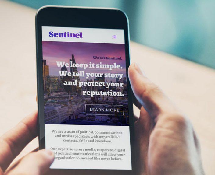 sentinel pr website design by Logo Design