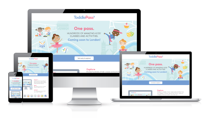 ToddlePass website design by Logo Design